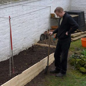Back filling the raised bed
