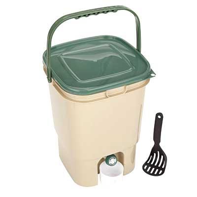 23L Single Square Bokashi Compost Bin and Kit