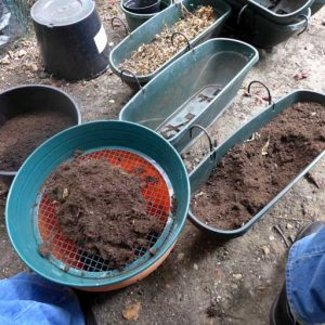 Re-using container soil