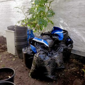 Bagged up new soil