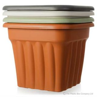 49cm Large Square Plastic Planter