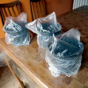 Plastic bag wrapping