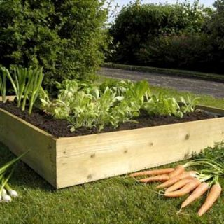 4ft Square Allotment Raised Bed Flatpack Kit