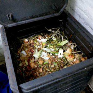 Layer of kitchen waste