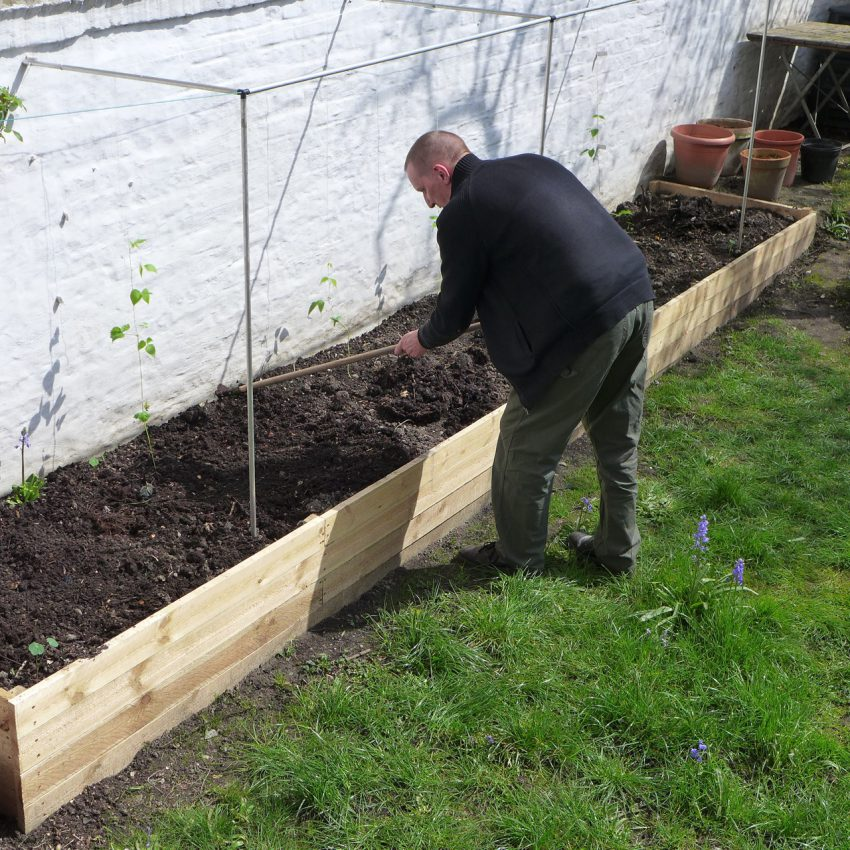Feeding raised bed