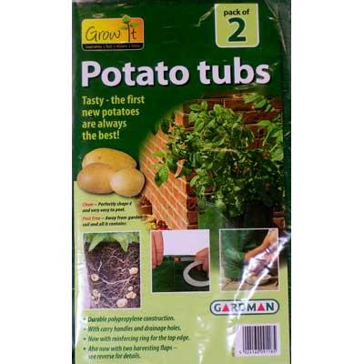 Pop up potato patio planters