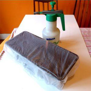 Spray and sealed tray