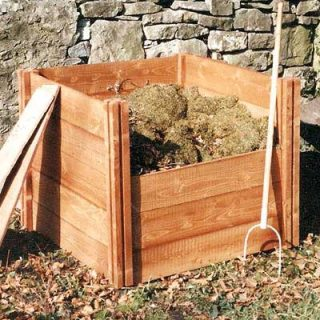 Wooden Composter - Single Bin Plus Lid
