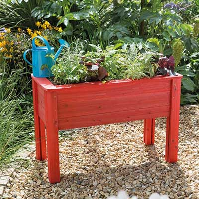 Junior planter table red